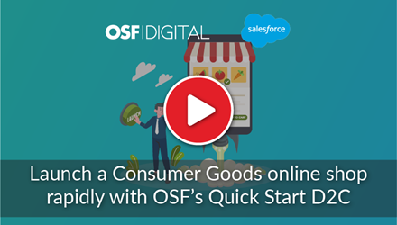 Launch a Consumer Goods online shop webinar